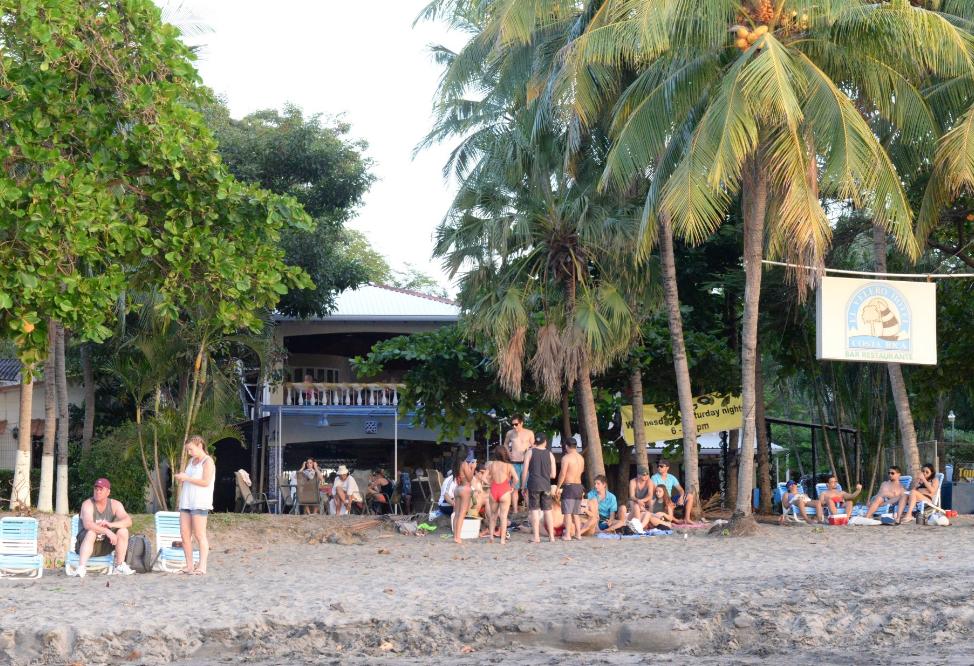 El Velero Hotel visitors on the beach