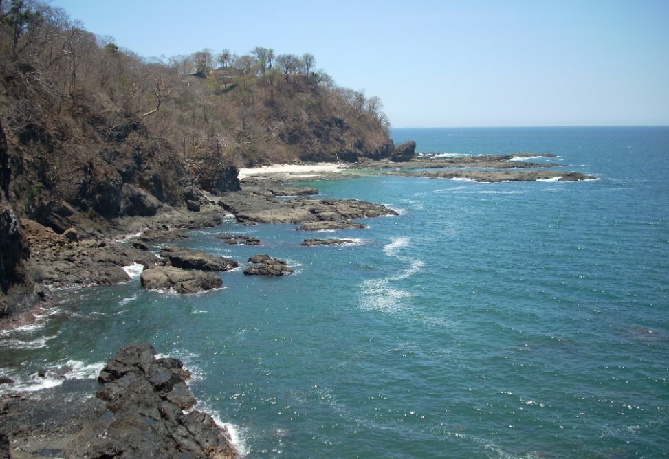 Rugged coast at Playa Hermosa